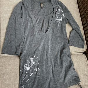 Thyme Maternity tunic grey with adjustable length